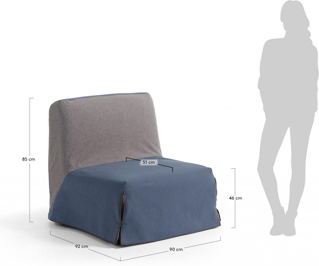 Sessel Jolly - Blau - zum Bett ausklappbar - La Forma kaufen ...